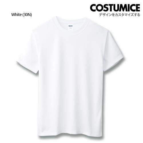 Costumice Design Quick Dry Athletic Shirts Mesh Tee-White