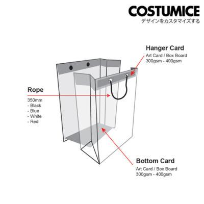 Costumice Design Paper Bag Hanger And Bottom Cardcostumice Design Paper Bag Hanger And Bottom Card