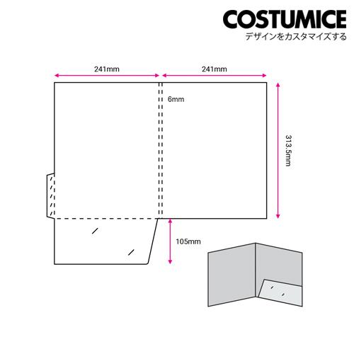 Costumice Design A4 Corporate Folder With Spine 2