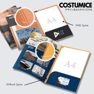 Costumice design A4 corporate Folder with spine 3