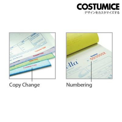 Costumice Design Bill Book Numbering+Copy Change