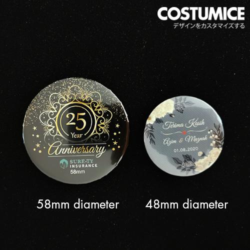 Costumice Design Button Badge Comparison