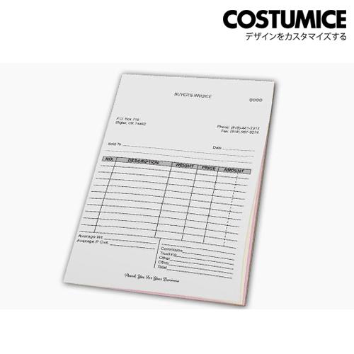 Costumice Design Large Size Multipurpose Bill Book 2