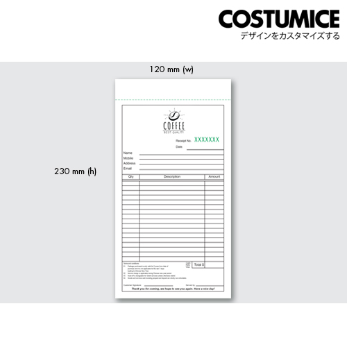 Costumice Design Small Size Multipurpose Bill Book 3