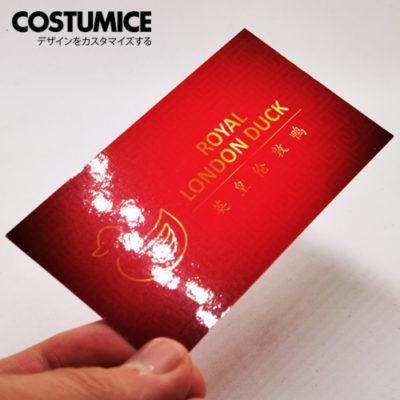 Costumice Design Gloss Laminated Name Card 2