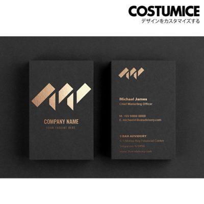 costumcie design premium name card printing 500gsm premium super black card 1