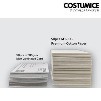 Costumice Design 600Gsm Hot Stamped Cotton Paper 3