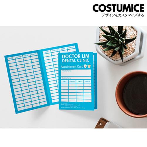 Costumice Design Folded Name Card 3