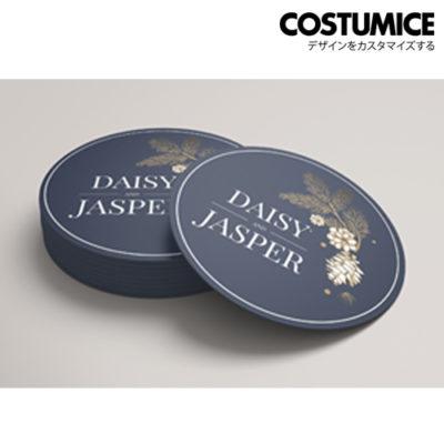 costumice design round name card 1