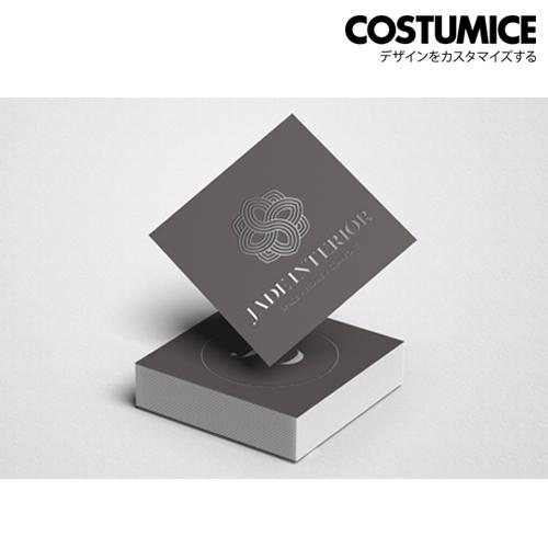 Costumice Design Square Hot Stamped Name Card