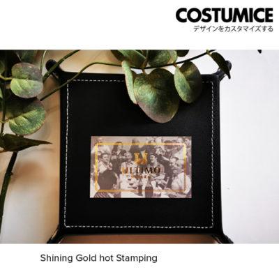 Costumice Design Name Card Shining Gold Hot Stamping