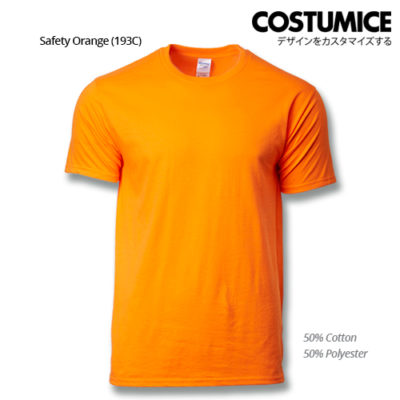 costumice design premium cotton t-shirt-safety-orange