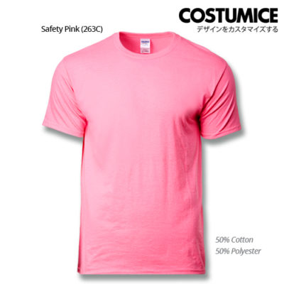 costumice design premium cotton t-shirt-safety-pink