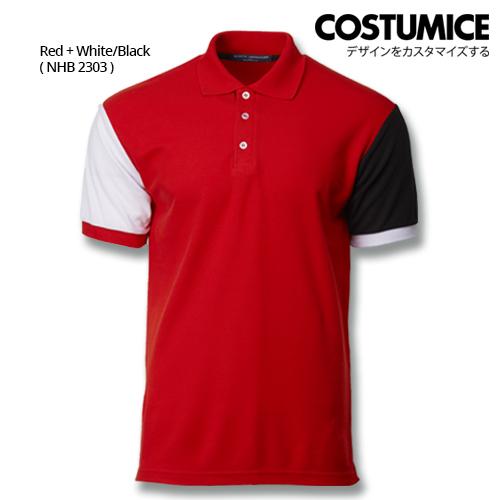 Costumice Design Dashing Polo - Red+White+Black