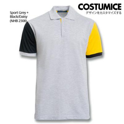 Costumice Design Dashing Polo - Sport Grey+Black+Daisy