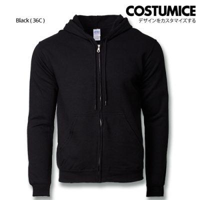 Costumice Design Heavy Blend Full Zip Hoodie Printing- Black