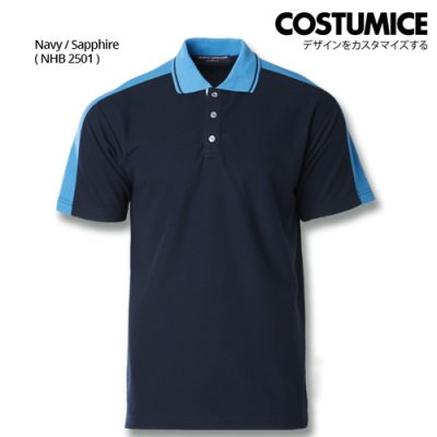 Costumice Design Signature Collection Smart Casual Polo - Navy+Sapphire