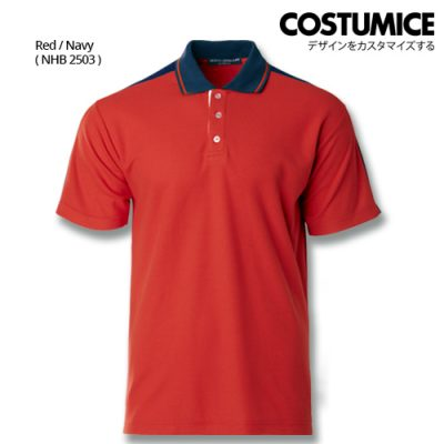 Costumice Design Signature Collection Smart Casual Polo - Red+Navy