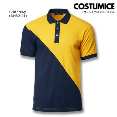 Costumice Design Signature Collection Venture Polo - Gold+Navy