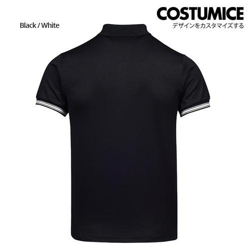 Costumice Design Minimalist Pocket Polo Blackwhite Back