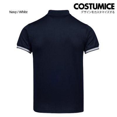 Costumice Design Minimalist Pocket Polo - Navy+White-Back